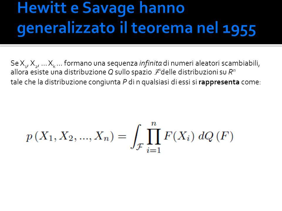 Hewitt e Savage hanno generalizzato il teorema nel 1955