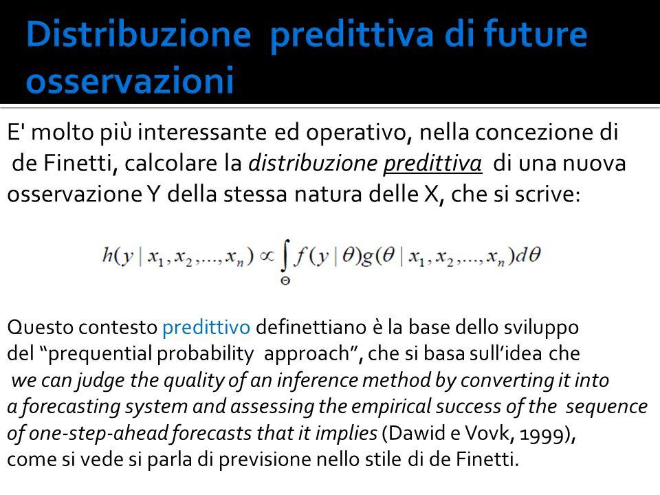 Distribuzione predittiva di future osservazioni