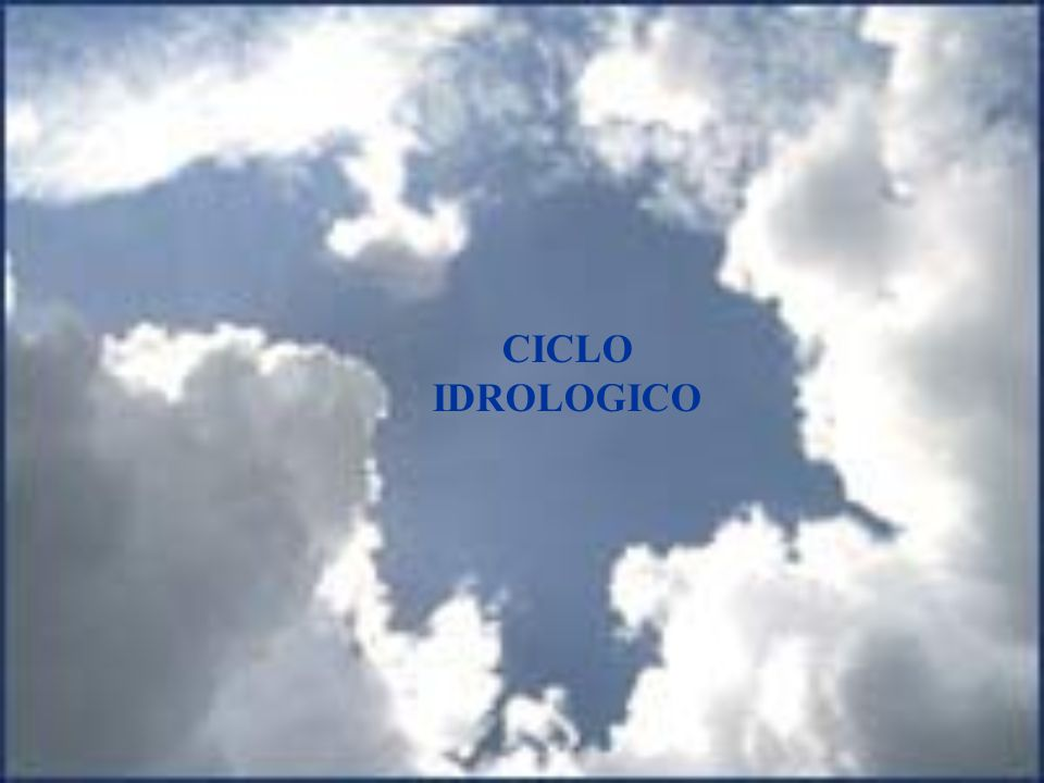 CICLO IDROLOGICO