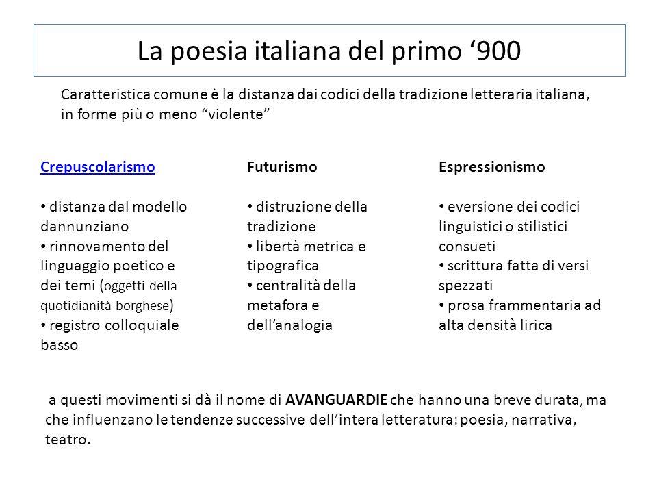 La poesia italiana del primo '900