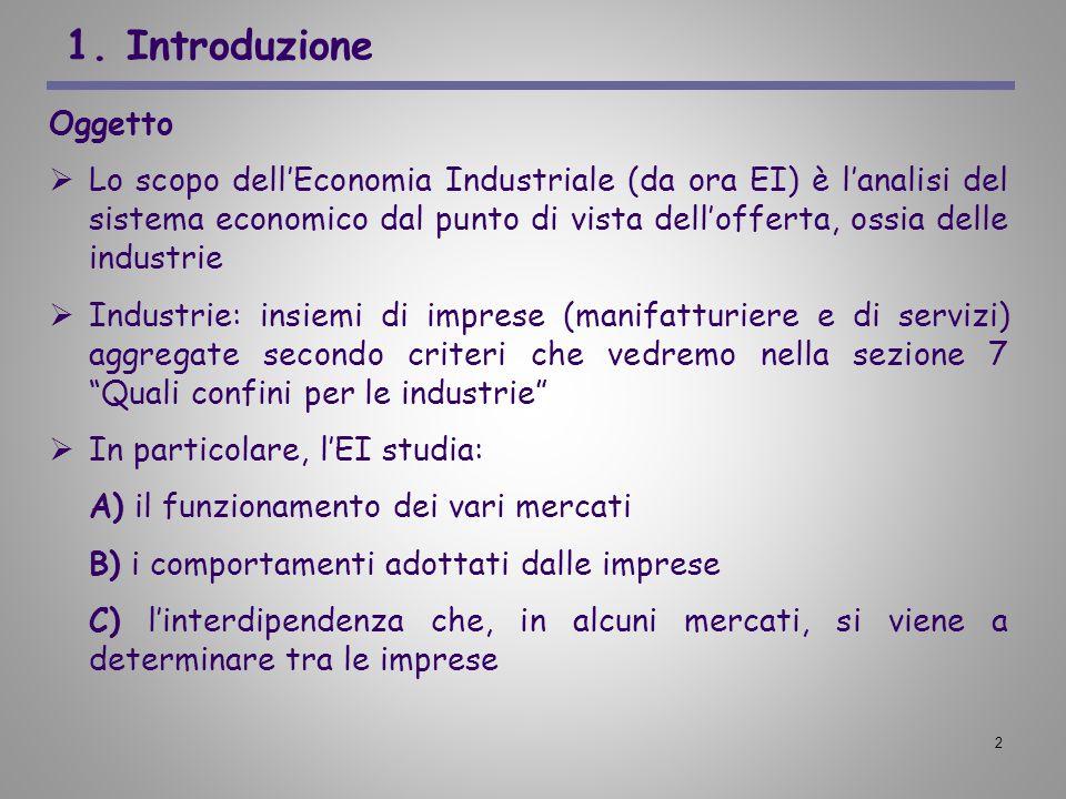 1. Introduzione Oggetto.