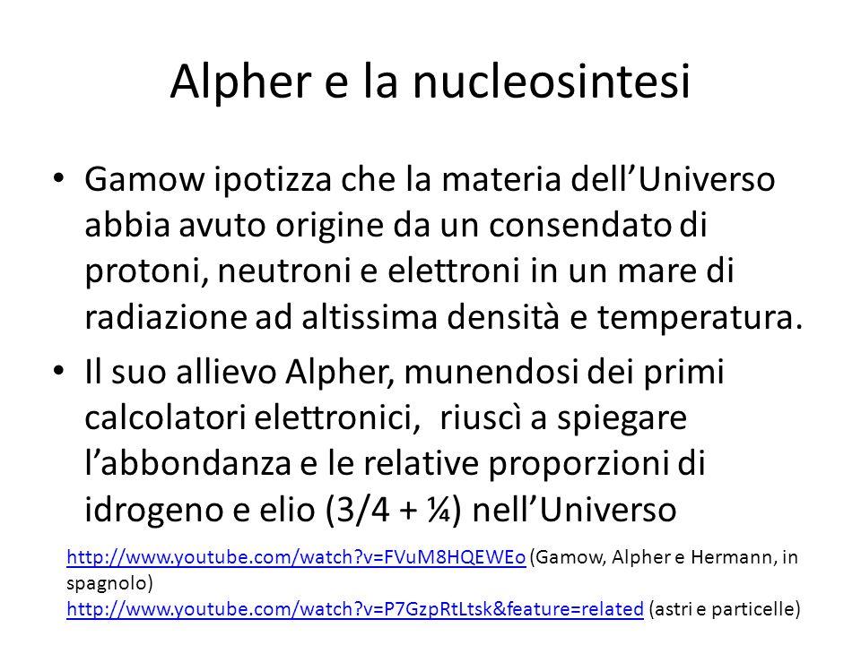 Alpher e la nucleosintesi
