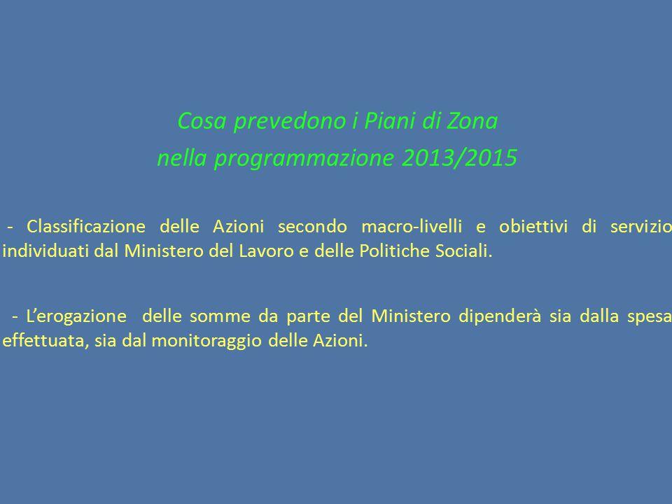 Cosa prevedono i Piani di Zona nella programmazione 2013/2015