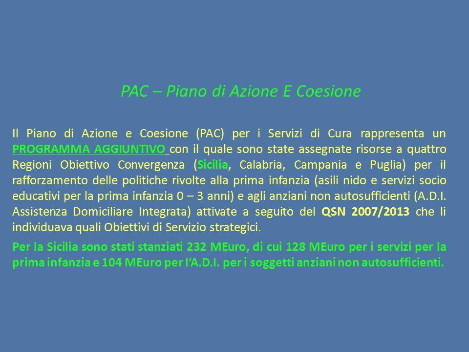 PAC – Piano di Azione E Coesione
