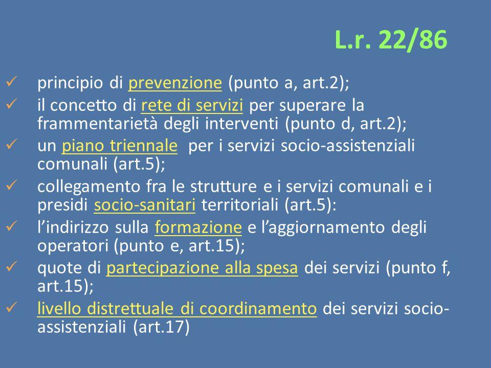 L.r. 22/86 principio di prevenzione (punto a, art.2);