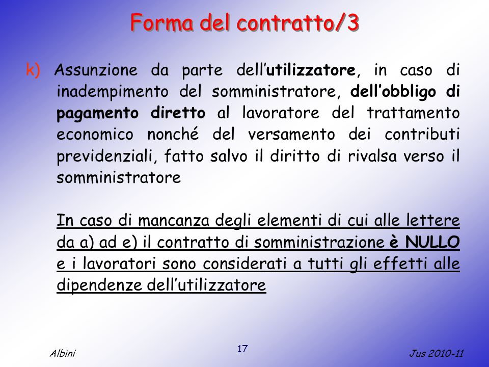 Forma del contratto/3