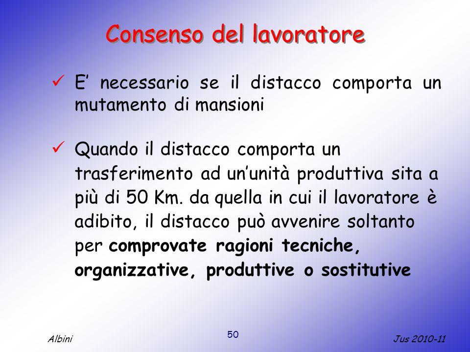 Consenso del lavoratore