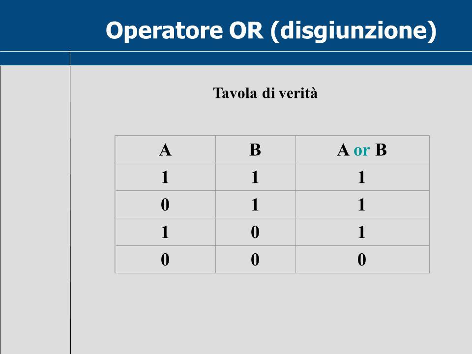 Operatore OR (disgiunzione)