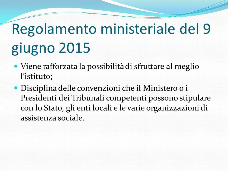 Regolamento ministeriale del 9 giugno 2015