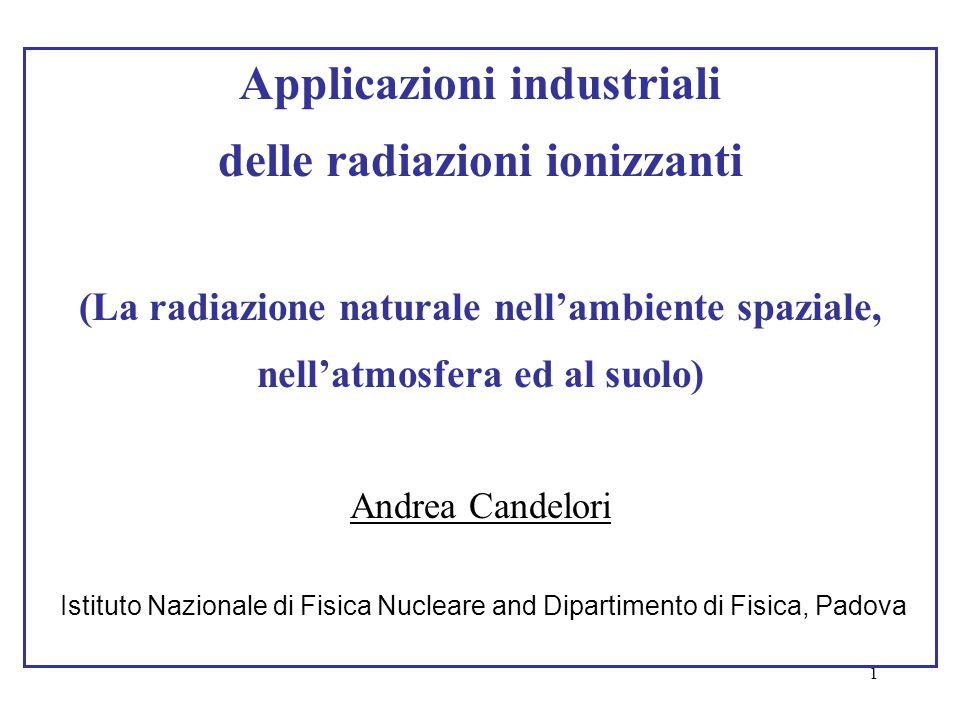 Applicazioni industriali delle radiazioni ionizzanti
