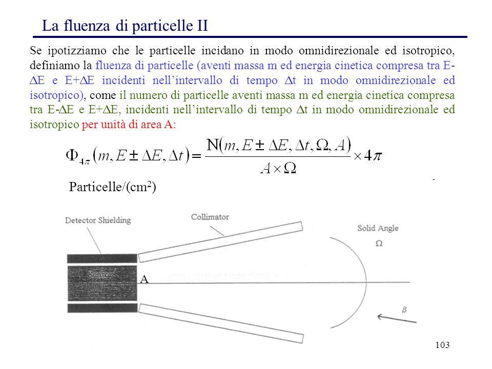 La fluenza di particelle II