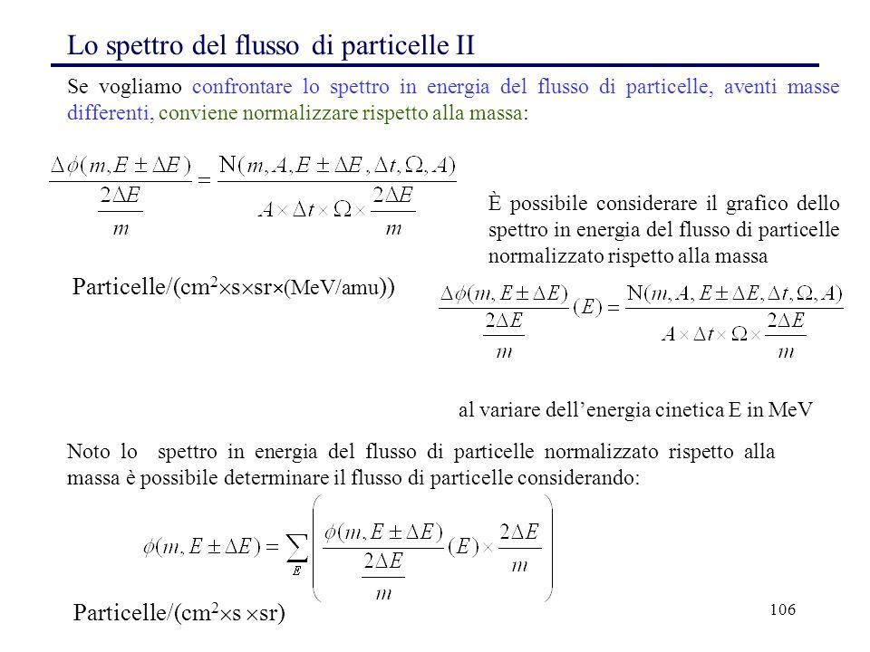 Lo spettro del flusso di particelle II