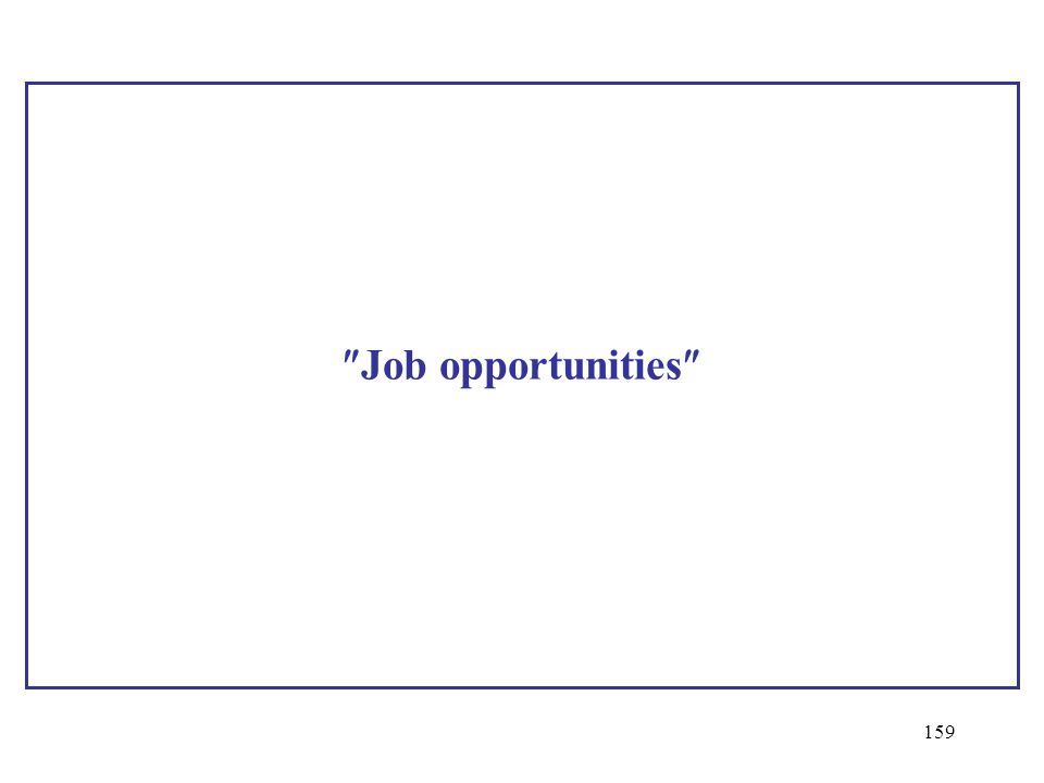 Job opportunities