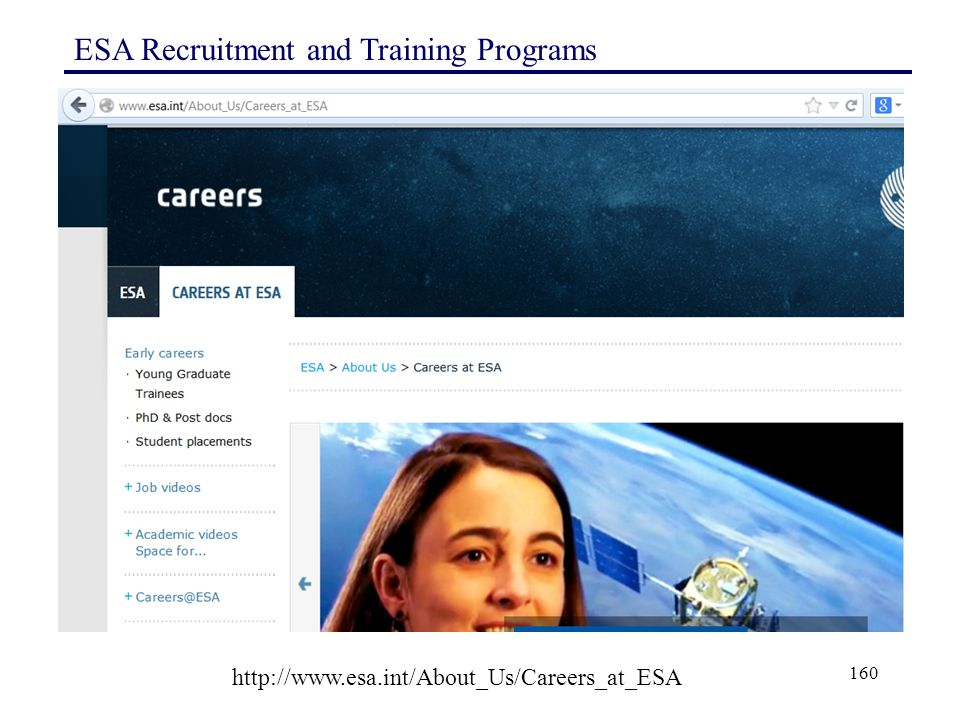 ESA Recruitment and Training Programs