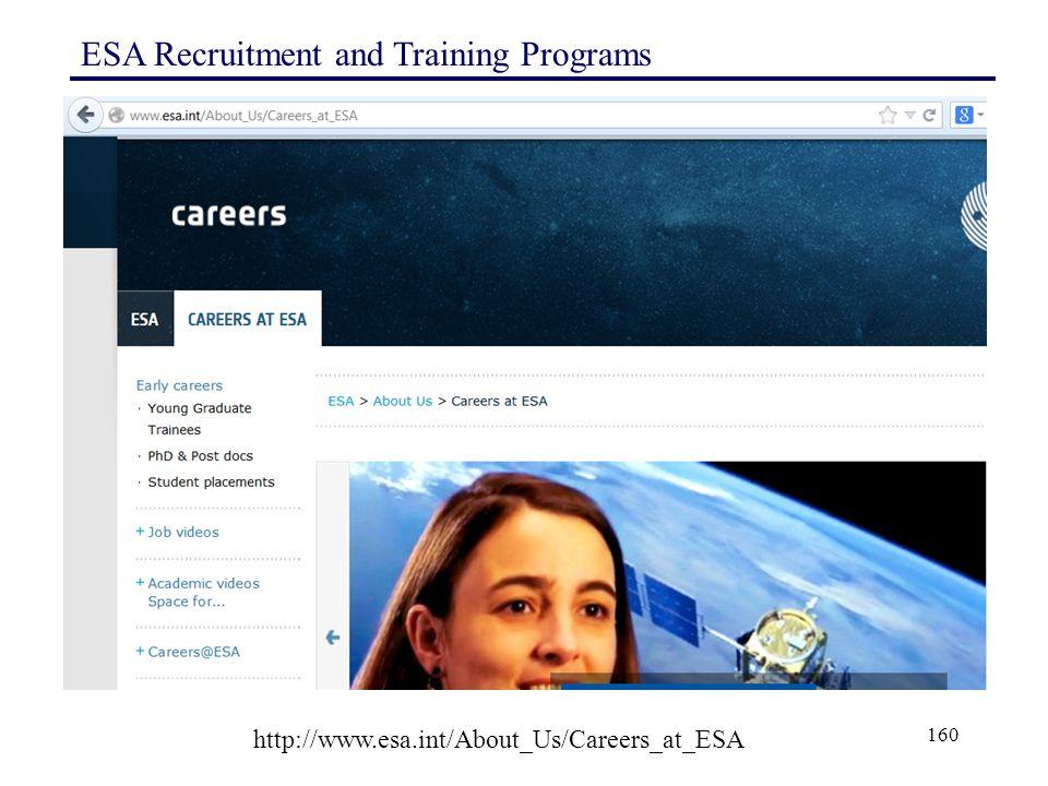 ESA Recruitment and Training Programs