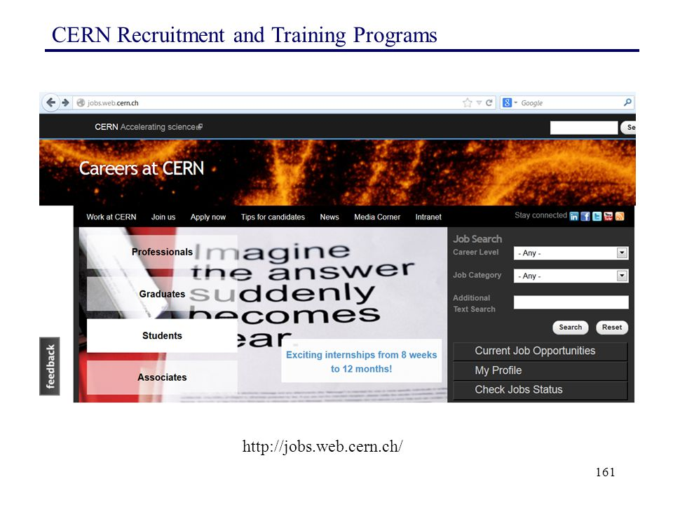 CERN Recruitment and Training Programs