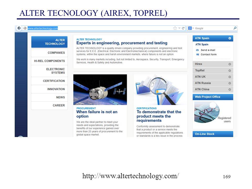 ALTER TECNOLOGY (AIREX, TOPREL)