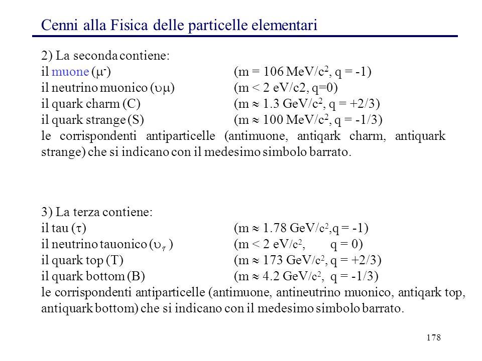 Cenni alla Fisica delle particelle elementari