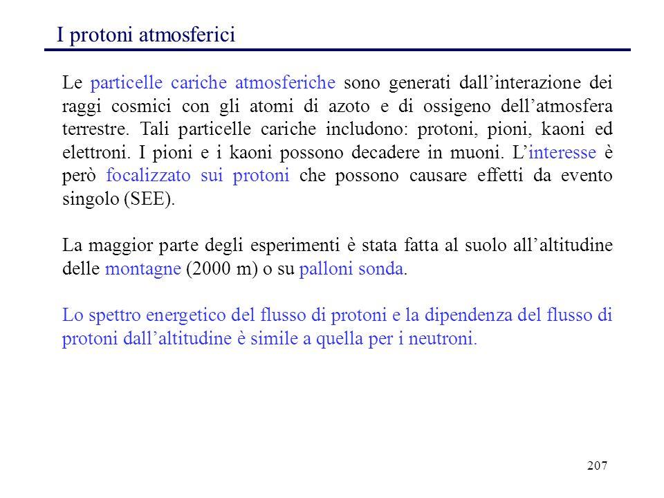 I protoni atmosferici
