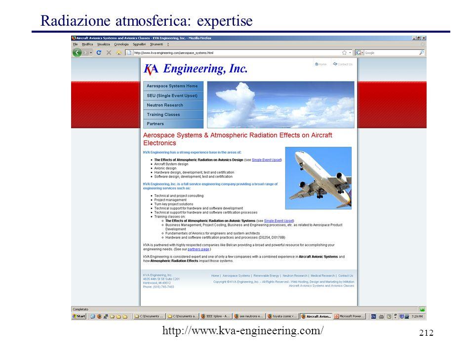 Radiazione atmosferica: expertise