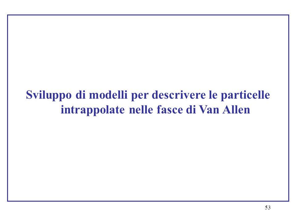 Sviluppo di modelli per descrivere le particelle intrappolate nelle fasce di Van Allen