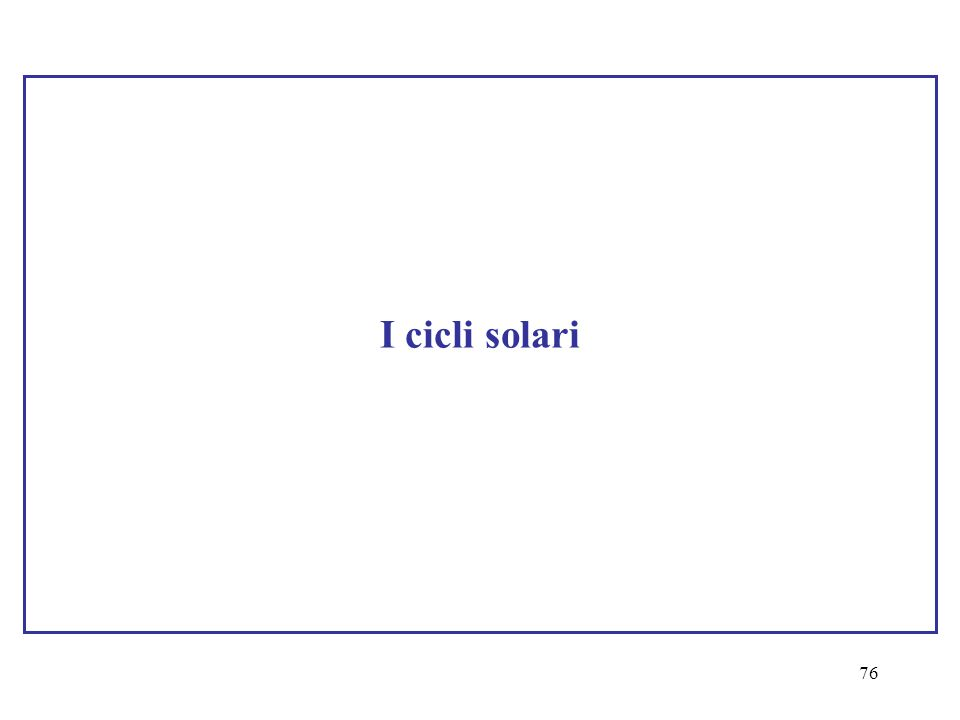 I cicli solari