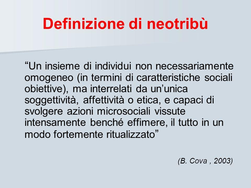 Definizione di neotribù