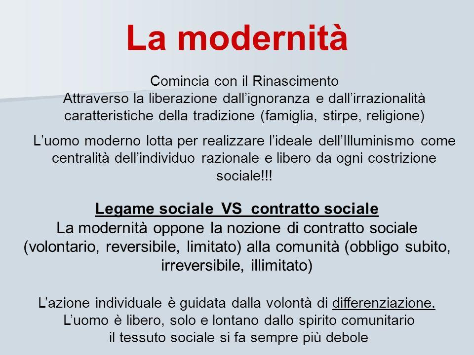 Legame sociale VS contratto sociale