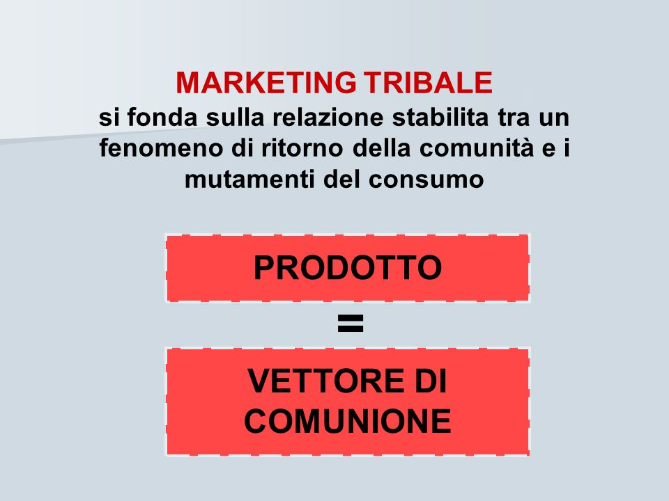 = PRODOTTO VETTORE DI COMUNIONE MARKETING TRIBALE