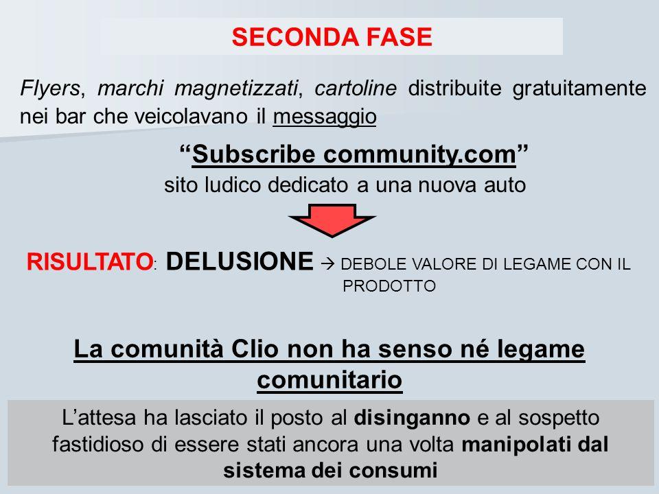La comunità Clio non ha senso né legame comunitario