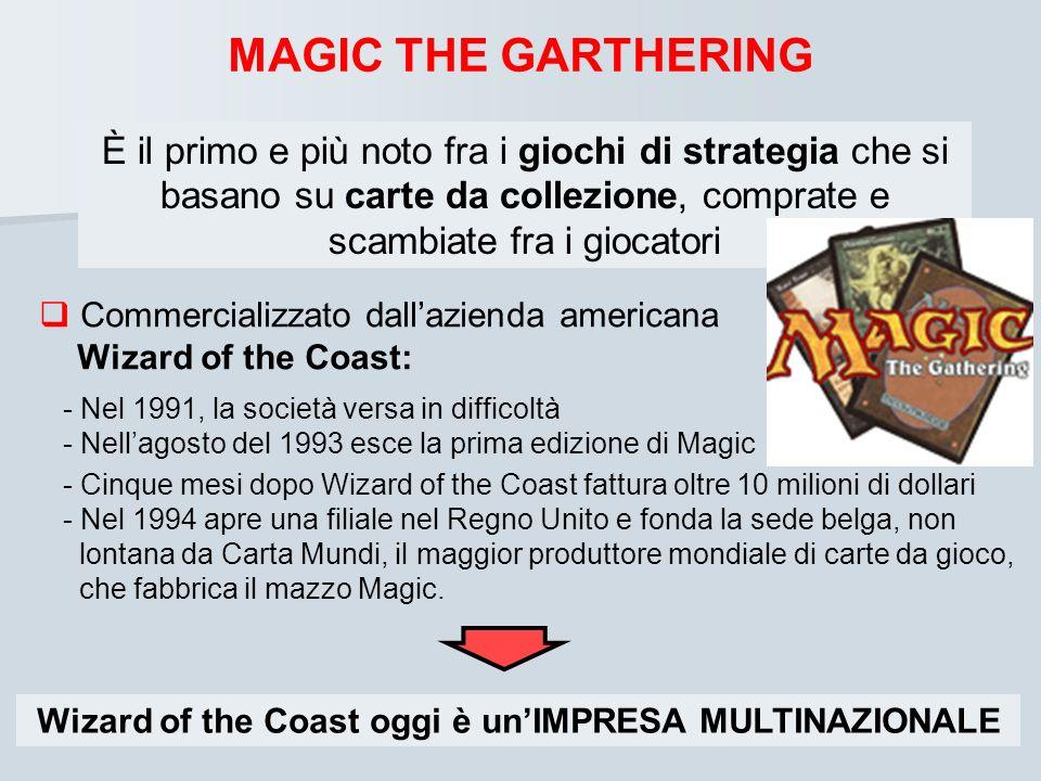 Wizard of the Coast oggi è un'IMPRESA MULTINAZIONALE