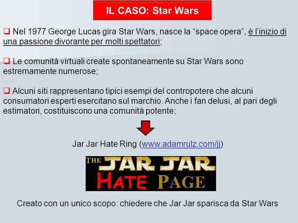 IL CASO: Star Wars Nel 1977 George Lucas gira Star Wars, nasce la space opera , è l'inizio di una passione divorante per molti spettatori;