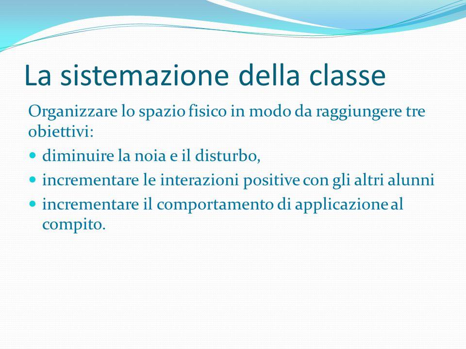 La sistemazione della classe