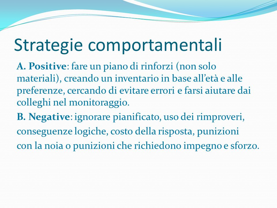 Strategie comportamentali