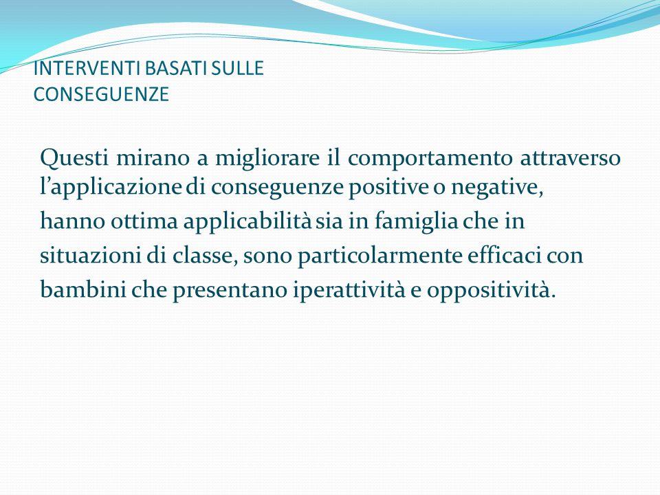 INTERVENTI BASATI SULLE CONSEGUENZE