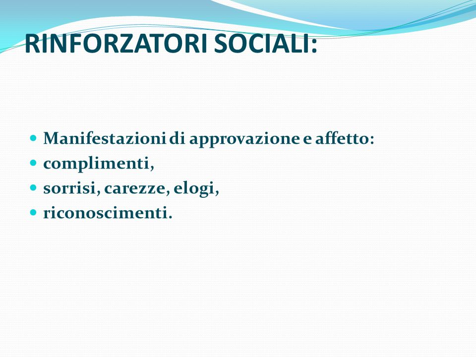 RINFORZATORI SOCIALI: