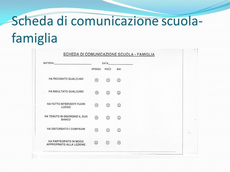 Scheda di comunicazione scuola-famiglia