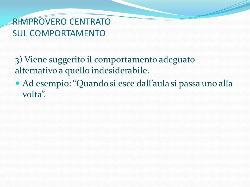 RIMPROVERO CENTRATO SUL COMPORTAMENTO