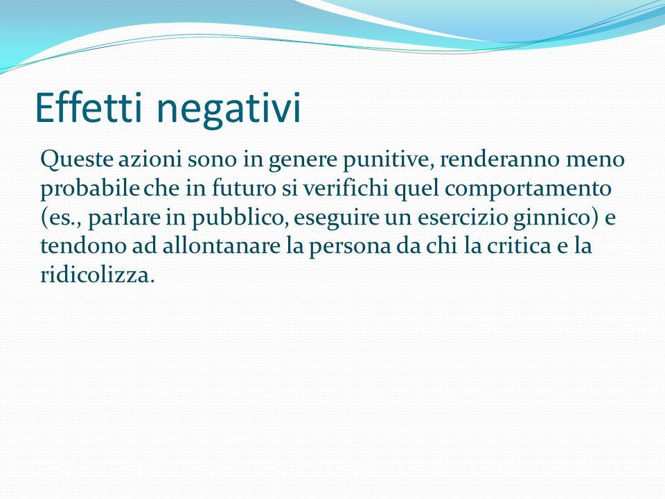 Effetti negativi