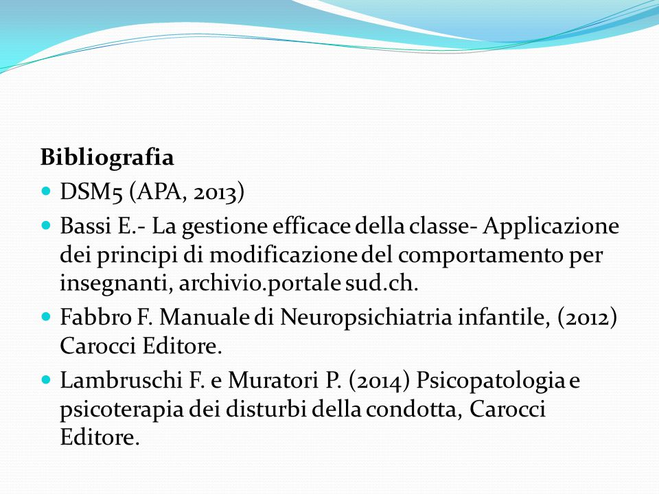 Bibliografia DSM5 (APA, 2013)