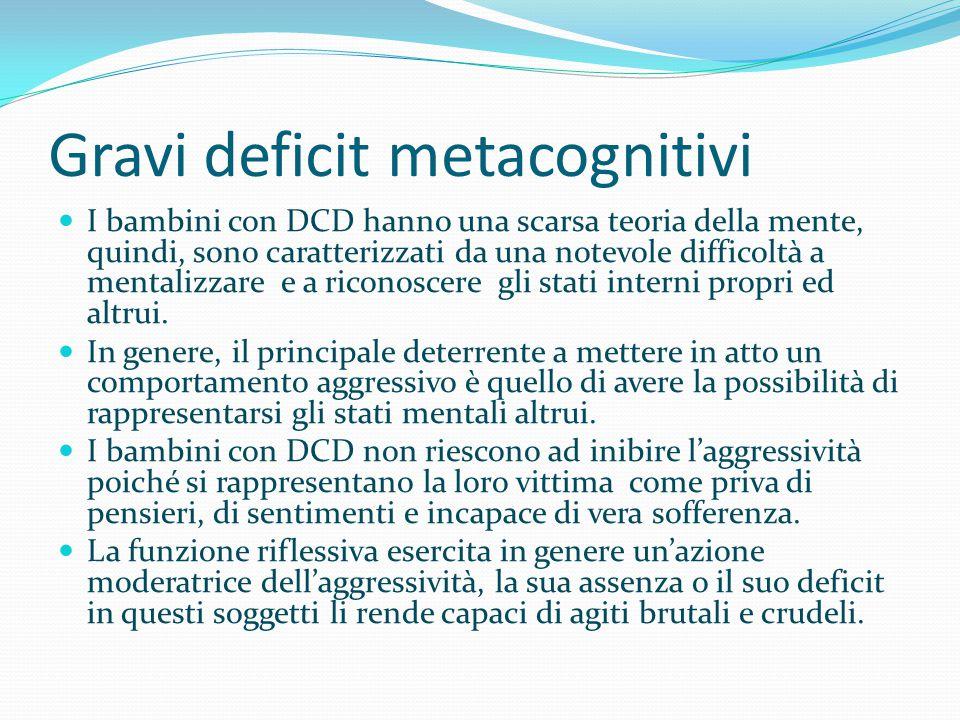 Gravi deficit metacognitivi