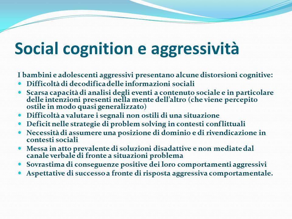 Social cognition e aggressività