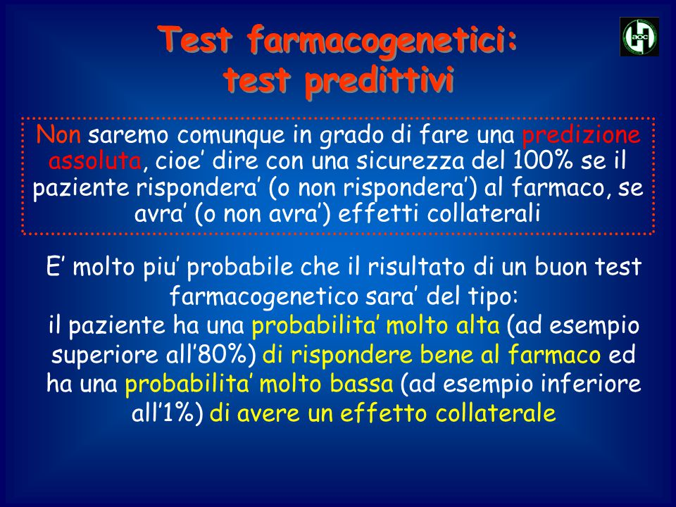 Test farmacogenetici: