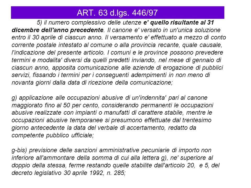 ART. 63 d.lgs. 446/97