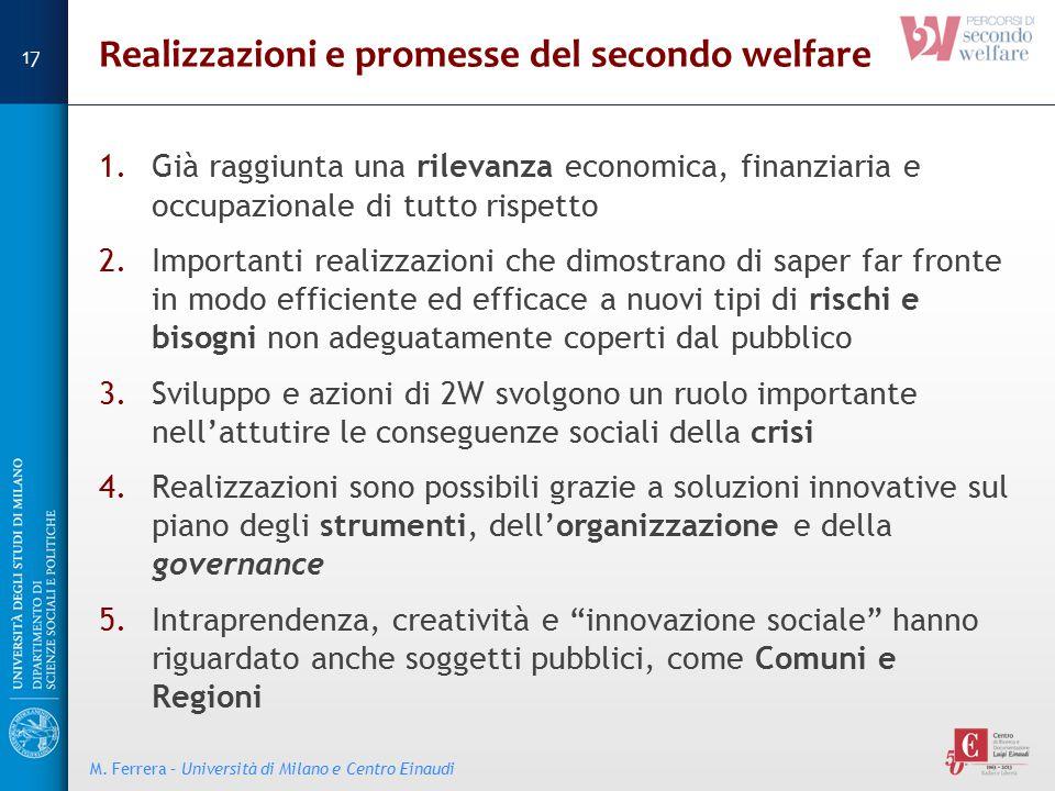 Realizzazioni e promesse del secondo welfare
