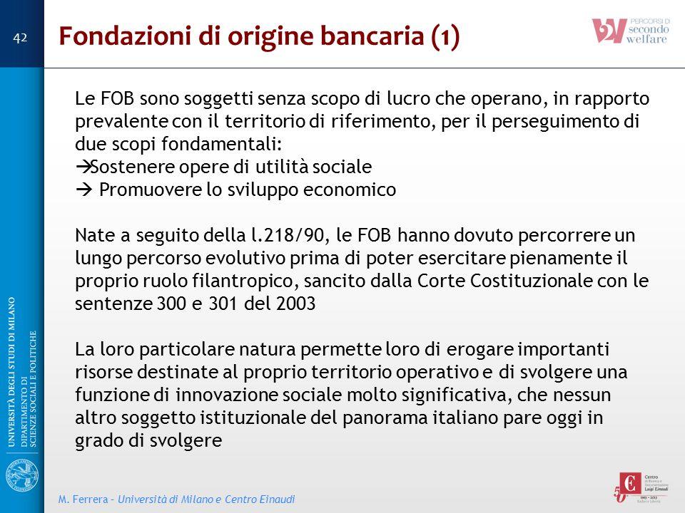 Fondazioni di origine bancaria (1)