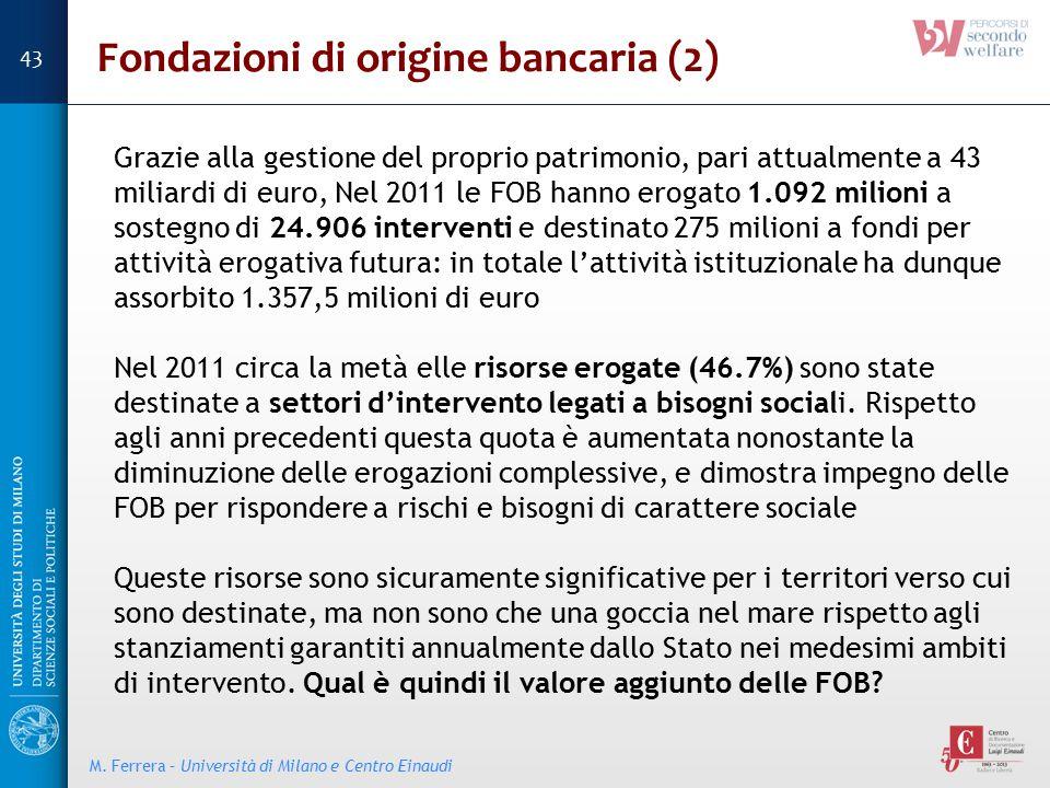 Fondazioni di origine bancaria (2)