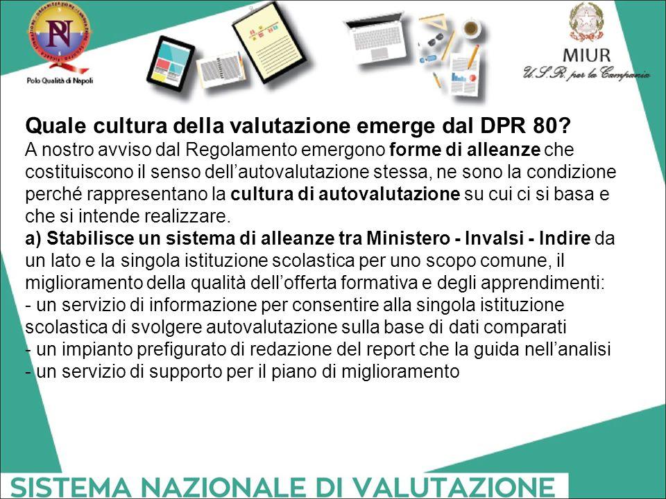 Quale cultura della valutazione emerge dal DPR 80