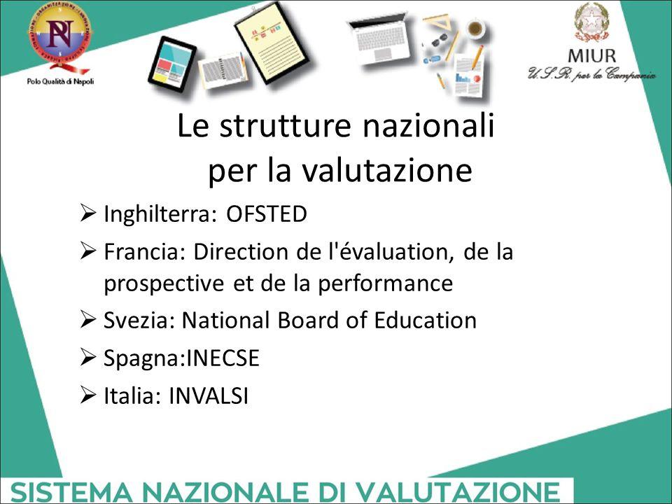 Le strutture nazionali per la valutazione