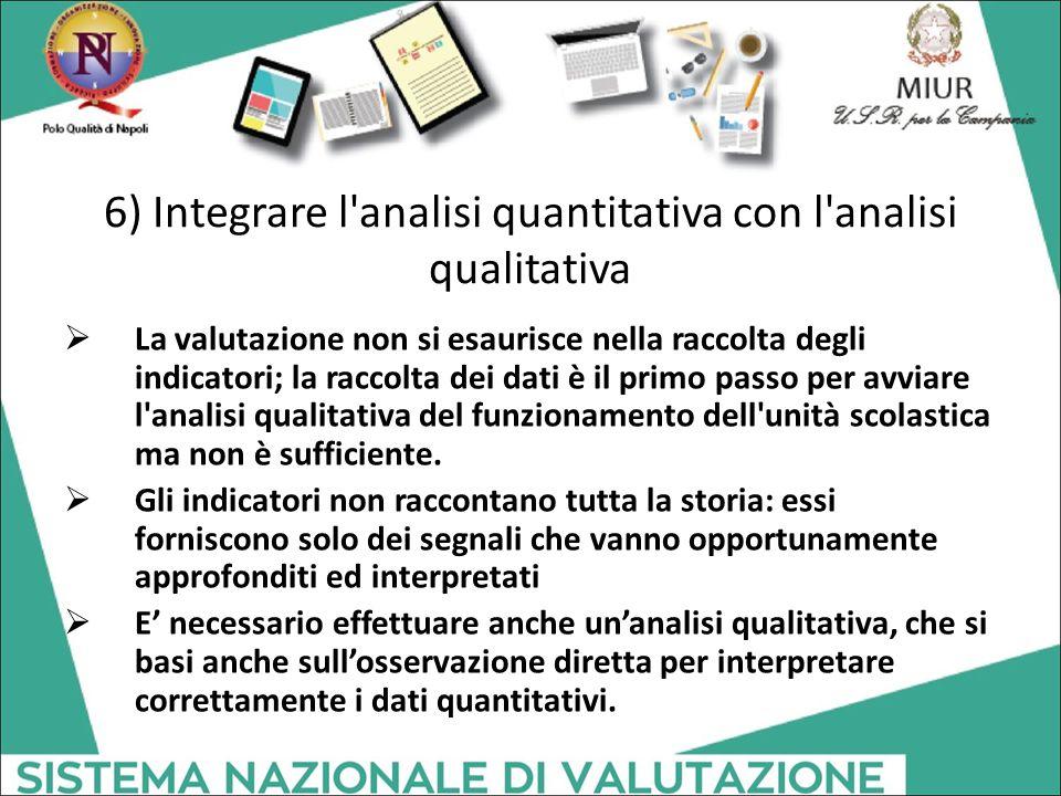 6) Integrare l analisi quantitativa con l analisi qualitativa